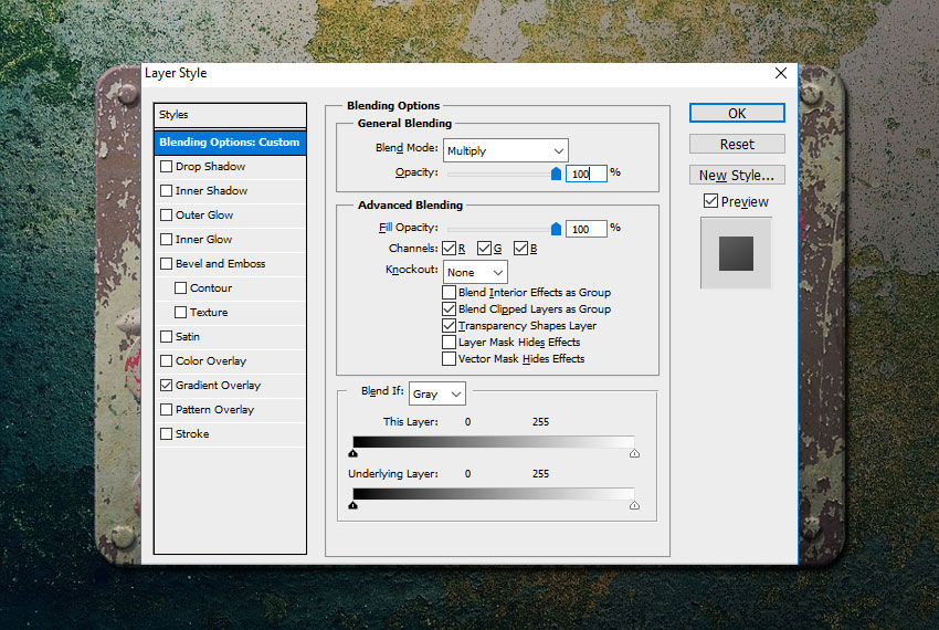 Blend Mode Layer Style in Photoshop